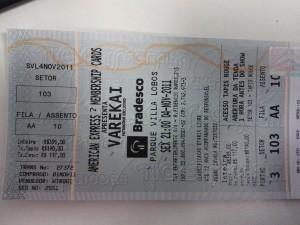 Ticket for Cirque du Soleil